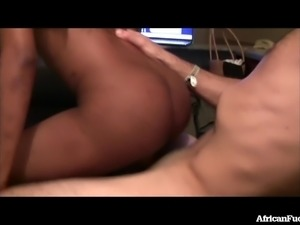 Real African Girl Gets Pounded By White Tourist!