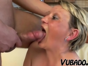 Young boy bangs hard his friends mom!