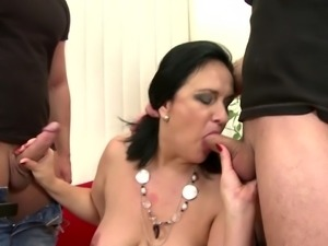 Mature beauty mother fucks not her sons