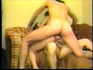Lorrin MIck in retro threesome