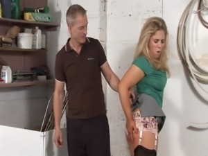 Husband spanks naughty Wife