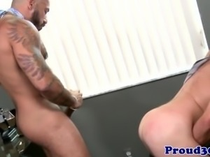 Mature red bears job interview cums to climax