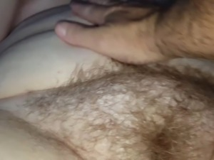 fingering the wifes very hairy pussy