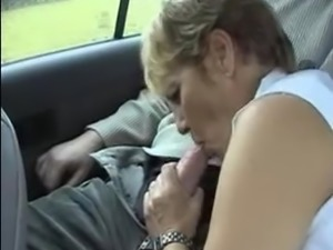 granny sucking in a moving car