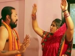 Swamiji enjoying with beautiful Bhabhi