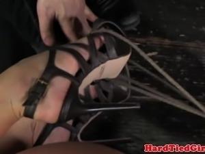 Mouth gagged slut is handling rough treatment