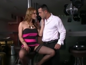 Abbie Cat fucking in black stockings