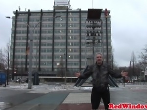 Cocksucking dutch prostitute cumsprayed
