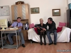 Job interview leads to old threesome
