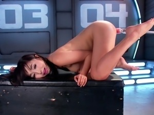Adventurous females fucked hard with sex machine