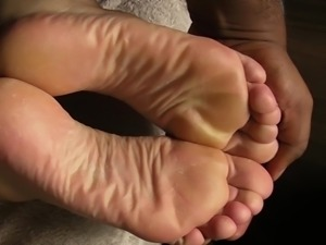 DJ foot rub and pre-cum only.