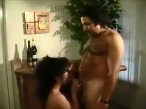 Raven Richards gives Ron Jeremy a blowjob