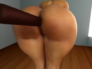 big booty anal machine 3D