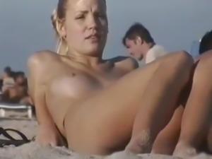Beach tits voyeur