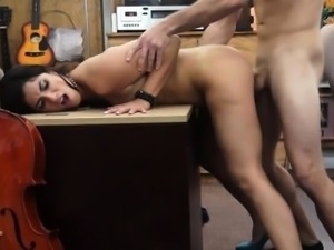 Big pawnshop boner gets to pound a Brazilian model