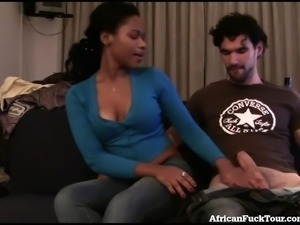 Hot African Girl Makes A Sex Tape!