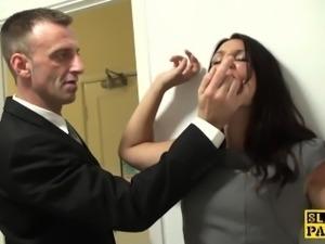 British slag analfucked then facialized