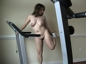 Milf on treadmill