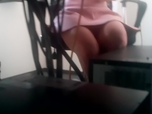 Young Office Girl Showing her Beautiful Legs