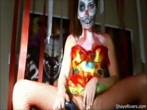 shaye rivers scary clown masturbation OMEGLE
