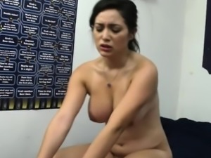 Busty college beauty sucking and doggystyled