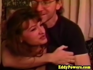 Vintage amateur doggystyled before cumshot