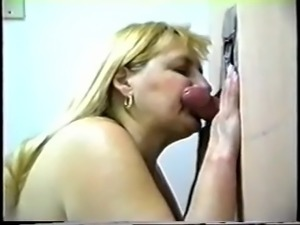 Hot bbw at gloryhole