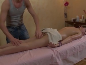 Young Small Tits Hardcore Cutie fucked by massage
