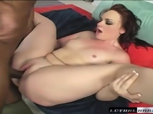 Hot Cherish Ley seizes the chance to get drilled by a hung black guy