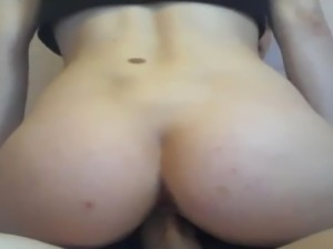 Girl Riding Her Boyfriend's Thick Cock