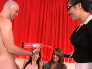 Totally stripped man bangs pussy of beautiful woman