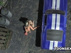 3D Babe Masturbates Before Sucking and Fucking