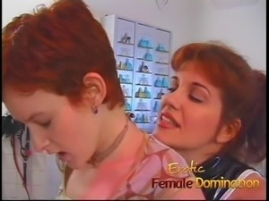 After a quick chat, this busty redhead dominatrix gets right to work Doctor,...