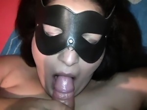 BBW mother drawing to messy facial