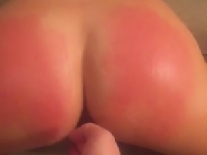 amateur blonde spanking