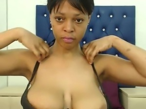 Light skinned ebony with big tits