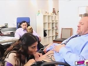 Gigi flamez and Katalina Mills as secretaries