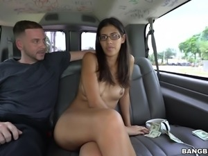 The water pours off her juicy ass. This slut got picked up in the backseat...