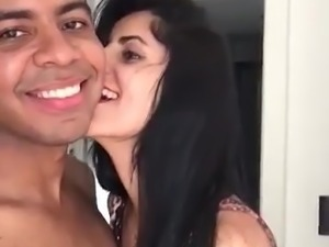 Such a cute UK Indian Girl sucking bf