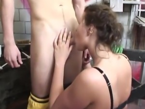 dutch huge boob teen gets sport lessons