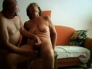 homemade, grandma and granddad in a very hot clip