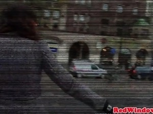 Dutch hooker pussyfucked after cocksucking