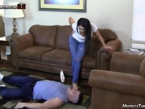 Mistress Tangent dominates stud in Femdom male domination