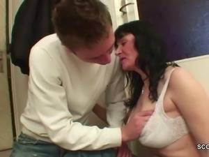 Young Boy Seduce homeless MILF Mother to Fuck with Him