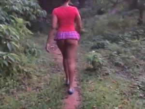 Short skirt NO PANTIES part 2