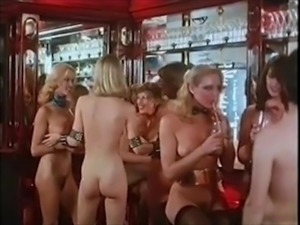 NAKED DISCO - vintage 70s blonde big tits dance tease
