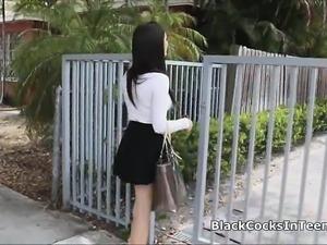 Black anaconda in busty teen nanny