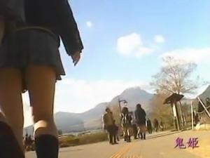 girls wearing school uniform 001
