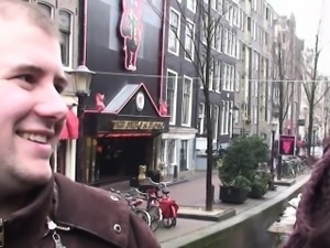 Dutch hooker cocksucking before doggystyle