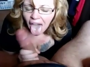Girlfriend POV blowjob with facial